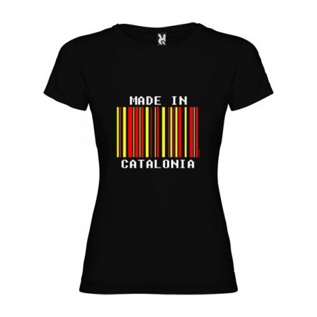 Camiseta Catalunya Made in Catalonia Manga Corta Mujer