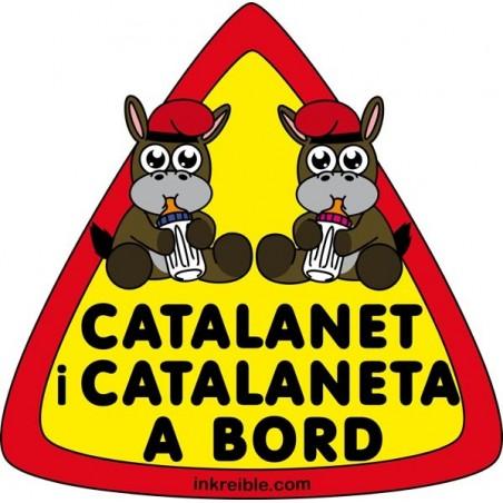 Adhesivo Catalanet i Catalaneta a Bord Interior