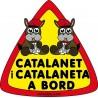 Adhesivo Catalanet i Catalaneta a Bord Exterior