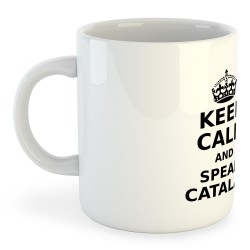 Tassa Catalunya Keep Calm and Speak Catalan
