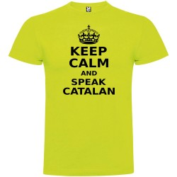 Samarreta Catalunya Keep Calm and Speak Catalan Maniga Curta Home