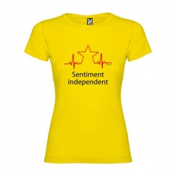 Camiseta Catalunya Sentiment Independent Manga Corta Mujer