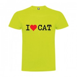 Camiseta Catalunya I Love CAT Manga Corta Hombre