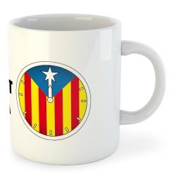 Tassa Catalunya Rellotge Independencia