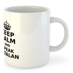 Tassa Catalunya Keep Calm and Speak Catalan