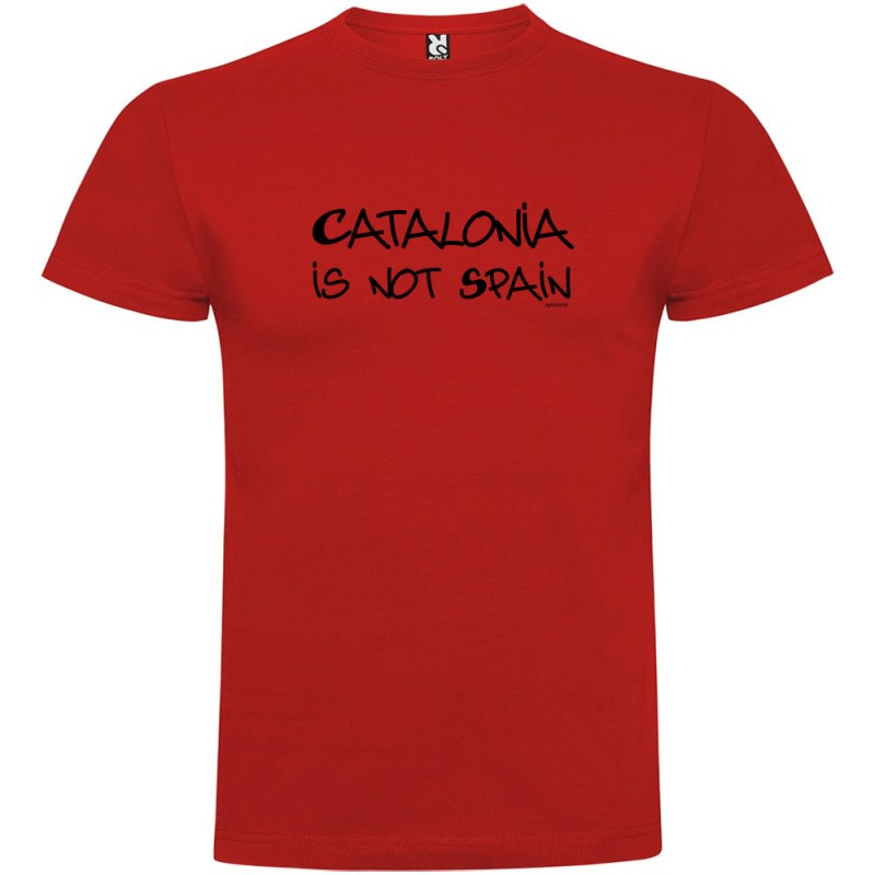 Samarreta Catalunya Catalonia is not Spain Maniga Curta Home